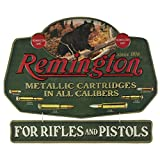 Open Road Brands Remington Bear Metallic Cartridges in All Calibers Vintage Tin Metal Wall Art - an Officially Licensed Product Great Addition to Add What You Love to Your Home/Garage Decor
