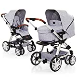 ABC Design Turbo 6 - Kombikinderwagen - Komplett-Set 2in1 - inkl. Babywanne & Sportwagen (Graphite Grey)