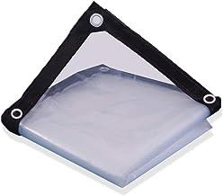 AOHMG Heavy Duty Tarps, waterdicht transparant dekzeil met metalen grommets elke 19 inch - voor dak, kamperen, outdoor, 9x...