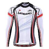 Ciclismo Jersey De Ciclismo Traje Camisa De Bicicleta Transpirable De Manga Larga for Hombre Ropa Top Reflectante MTB con Bolsillos Traseros (Color : White, Size : XXL)