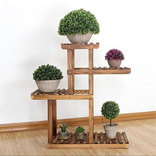 Plante Fleur Stand Bureau Mini Étagère Pot Rack Pin Bois Préservation Balcon Salon Intérieur et Extérieur Accessoires