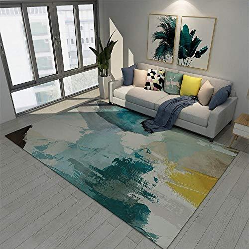 tappeti ingresso casa interno blu Anti-acaro del tappeto del modello dei graffiti blu del salone del tappeto di stile astratto tappeto letto 140X200CM tappeti arredamento 4ft 7.1''X6ft 6.7''