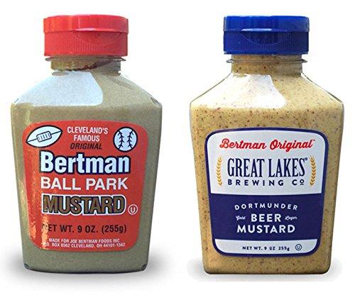 Bertman Original Ball Park Mustard and Dortmunder Beer Mustard