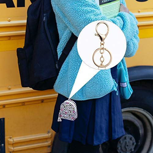 SOIMISS Cartoon Mini Coin Purse PU Unicorn Outdoor Earphone Cable Storage Wallets for Women Girls Kids DIY Backpack Pendant (Stripe)