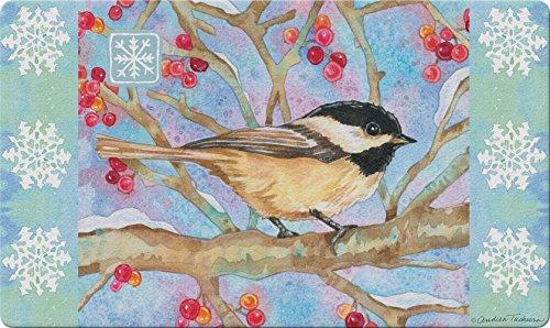 Toland Home Garden 800263'Invierno Bosque Chickadee pájaros/Invierno Decorativa estándar Alfombrilla, 18'x 30'