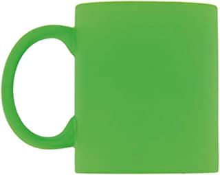 eBuyGB Bright Fluorescent Neon Coffee Mug - 12 oz (Pack of 4 Green)