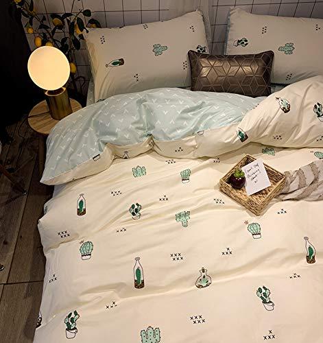 NKJSANFOI Wind pink 100% cotton pure cotton bedding four-piece set bed sheet three-piece set girl heart princess wind quilt cover