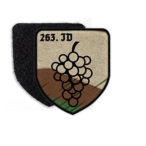 Copytec Patch 263 ID Infanterie Division Wappen Abzeichen Weintrauben Splittertarn Aufnäher #23458