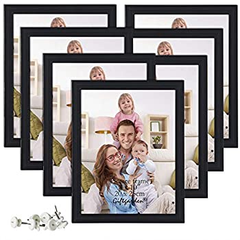 Giftgarden 8x10 Picture Frame Multi Photo Frames Set for Wall Decor or Tabletop Display 7 Pack Black
