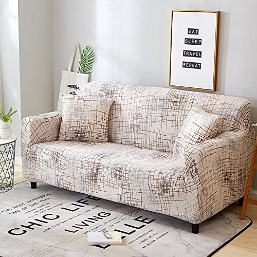 WXQY Funda de sofá de celosía Funda de sofá de sombreado elástico Funda de sofá de Sala de Estar sofá de Esquina Toalla Funda de sofá Funda de cojín Protectora A12 3 plazas