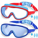 EasYoung 2-Pack Kids Swim Goggles, Swimming Goggles for Children and Early Teens from