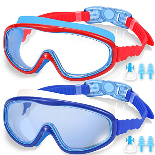 EasYoung 2-Pack Kids Swim Goggles, Swimming Goggles for Children and Early...