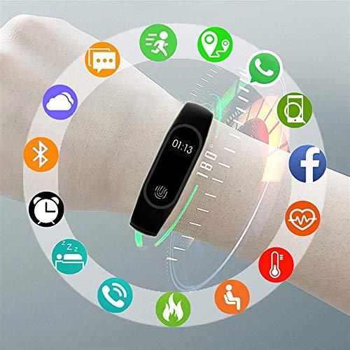 Orologio intelligente per bambini con braccialetto fitness impermeabile, con promemoria Bluetooth, adatto per ragazzi e ragazze, compatibile con iOS Android-rosa
