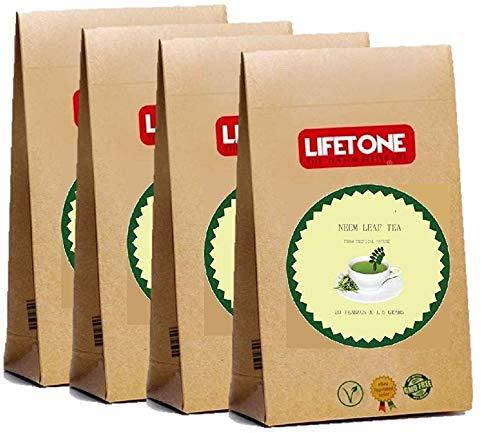 lifetone the tea for better life, NEEM Teebeutel   Mit 100% reinen Neemblättern mischen 80 Teebeutel   Neem-Blatt-Tee   Detox-Tee
