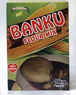 Banku Flour Mix 1 Kg/2.2 lbs PLUS Free Wooden Utensil With Each Order