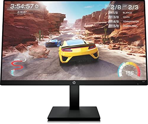 "HP X27 - Monitor Gaming de 27"" FHD (1920 x 1080 a 165 Hz, IPS, 1ms, HDMI, antirreflejo, Ajuste Altura) Negro"