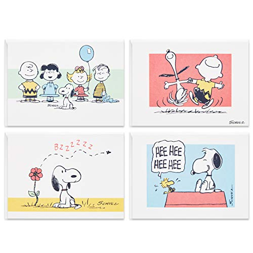 Hallmark Peanuts Blank Cards Assortment, 70th Anniversary (40 Note Cards with Envelopes)