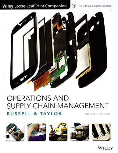 Operations and Supply Chain Management Loose-leaf Print Companion with Wiley E-Text