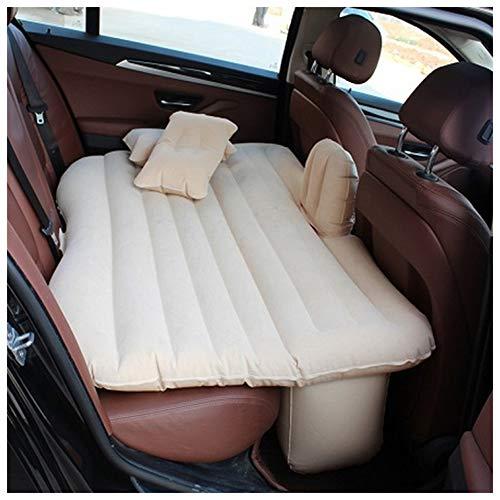 ZHKGANG Luftbett Auto Auto Bett Hintere Reihe Isomatte Auto SUV Tragbare Reisekissen Multifunktions Luftbett,Beige-130 * 84 * 35cm-B