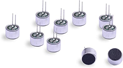 Cylewet 10Pcs Cylindrical Electret Condenser Microphone Pickup with 2 Pins 9×7mm for Arduino (Pack of 10) CYT1013