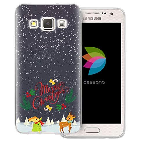 dessana Christmas Christmas Christmas - Custodia protettiva per Samsung Galaxy A3 (2014-2015), motivo: renna e coniglio