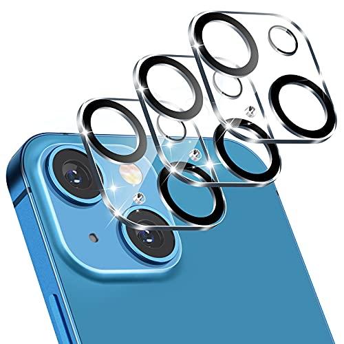 FITA [3 Pack] Protector de Lente de Cámara Compatibile con iPhone 13 Protector de Pantalla, [Anti-Arañazos, Dureza 9HD] Cristal Templado Cámara Trasera Lente Protector
