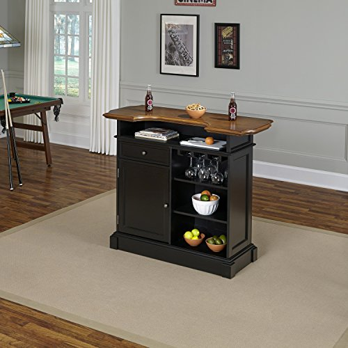 Americana Black and Oak Bar by Home Styles