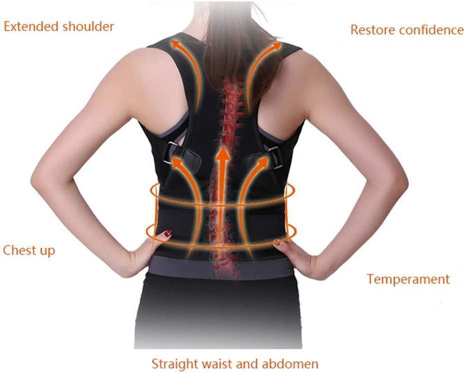 YUMUO North Back Orthosis Student Hunchback Adult Men and Women Back Correction Clothing Spine Folding Kids Camel Belt Back Braces (Couleur: Blanc, Taille: M) 14