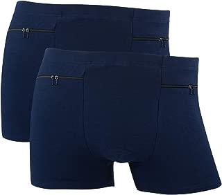 Men's Pocket Underwear with 2 Secret Pocket, 2 Packs(Blue)