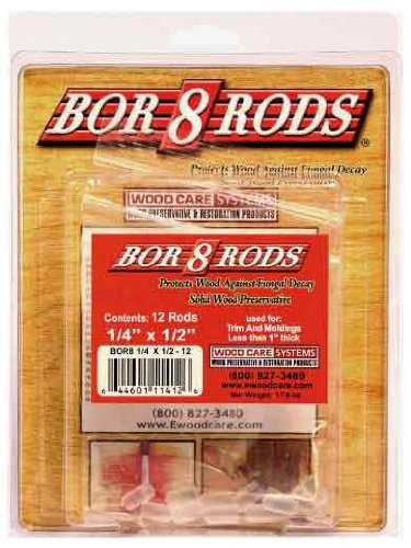System Three 1/4-Inch by 1/2-Inch Wood Care Borate Rods, 12-Pack, 14112