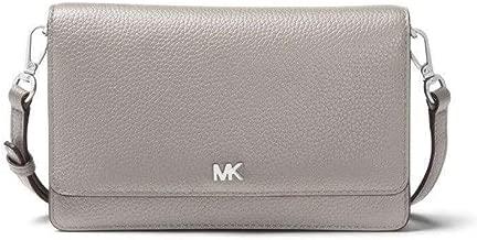 MICHAEL Michael Kors Pebbled Leather Silver-Tone Convertible Crossbody