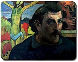 Self Portrait With Yellow Christ By Paul Gauguin Mouse Pad