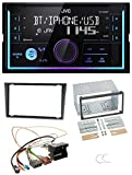 caraudio24 JVC KW-X830BT AUX 2DIN USB MP3 Bluetooth Autoradio für Opel Combo C Meriva Corsa C Tigra ab 2005 grau