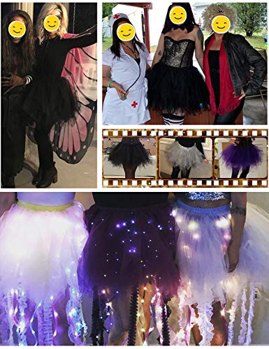 Bbonlinedress Kurz Retro Petticoat Rock Ballett Blase 50er Tutu Unterrock Black S - 5