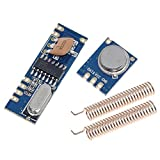 Gaodpz 1 Set 433MHz 100 Metros Kit del módulo Wireless Ask transmisor STX882 + Receptor Ask SRX882 + 2pcs Copper Primavera Antena