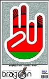 THE SHOCKER HAND - Wandtattoo / Wandaufkleber/ Aufkleber - weißer Umriss mit Fahne / Flagge - Malawi-Malawis 100 cm