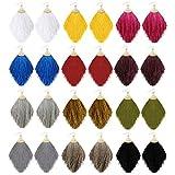 Vanjewnol 12 Pairs Tassel Earrings Lightweight Dangle Earrings Gold Hook Thread Fringe Earrings Bohemian Statement Earrings for Women Girls Daily Wear/Party