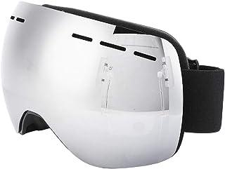 Ruiqas Skidglasögon professionella utomhussporter glasögon anti-dimma snowboard skridskoåkning skidglasögon, silver