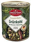 DREISTERN Grünkohl mit Kasseler und Mettenden 800 g I leckeres Fertiggericht mit Gemüse in der praktischen recycelbaren Konserve I köstliche Kombination Kasseler& Mettenden - Qualität die schmeckt