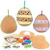 Baker Ross Diseñe Kits Costura Huevos de Pascua Set para niños (paquete de 5)