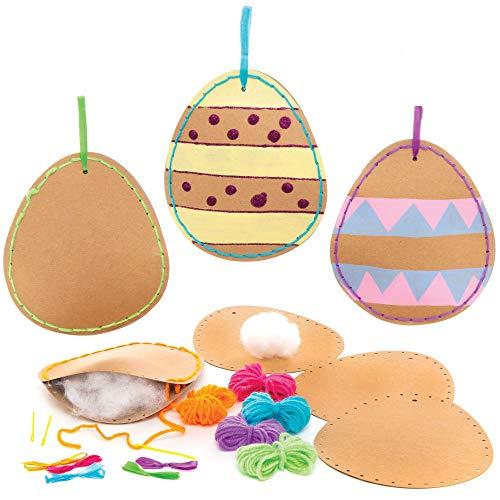 Kit di Cucito Uova di Pasqua Fai Da Te Baker Ross (confezione da 5)- Creativi articoli artigianali di Pasqua per bambini da realizzare e decorare
