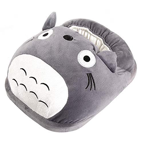 FAIRYPIE Calentador Pies Eléctrico Totoro, Bonita Zapatilla De Calefacción Eléctrica De Moda, Almohadilla De Calentamiento De Felpa Suave para Invierno Frío