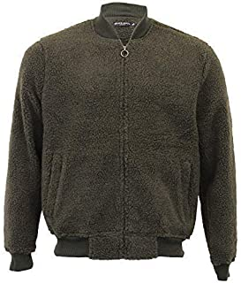 BRAVE SOUL Mens Borg Sherpa Fleece Sweatshirt Manna Zip Baseball Neck Top Warm