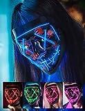 AnanBros Halloween Maske, LED Purge Maske im Dunkeln Leuchtend, Halloween Purge Maske 3...