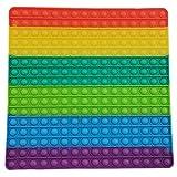 POP IT Cuadrado Colores Grande  Explotar Burbujas y Aliviar el Estrés  Destinado a niños y adultos Regalo Sensorial Divertido y Original Gigante y Enorme Juguete antiestrés para niños