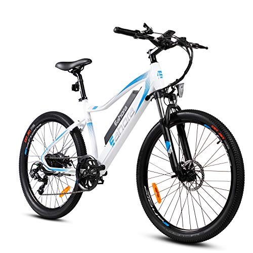 Eahora XC100 Plus 26 Inch Electric Mountain Bicycle 7 Speed E-Bike 48V 10.4Ah Lithium Battery 350W Electric Bike Max 80 Miles Adult Assisted E-Bike Electric Bike for Adults with E-PAS System
