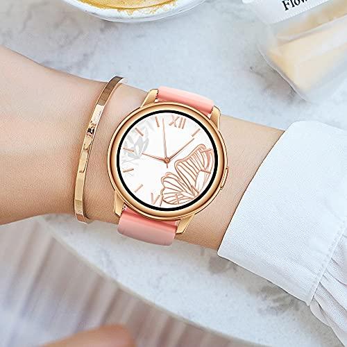 LEMFO Smartwatch Damen, Rosegold Damen Uhr Fitnessuhr Sportuhr mit schrittzähler, IP68 Wasserdicht Rund Smart Watch mit 24 Sportmodi und Personalisiertem Bildschirm, Frauen Armbanduhr für iOS Android