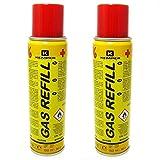 Aesamarket Kemper 10051-2 Gaskartuschen zum Nachfüllen von Feuerzeugen und Mikrolöten, 90 g, 2...