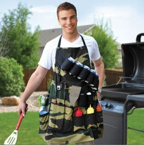 THE GRILL SERGEANT BBQ APRON Barbeque Party Gift Prank Beer...