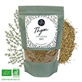 Thym Sch Bio - Idal Pour Infusion ou en Cuisine - Sac Kraft Refermable de 305 gr - Aromate d'Exception - 7 Saisons